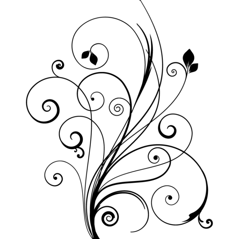 simple swirl clipart - 768×768